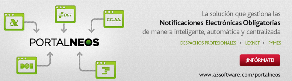 PortalNEOS notificaciones electronicas obligatorias